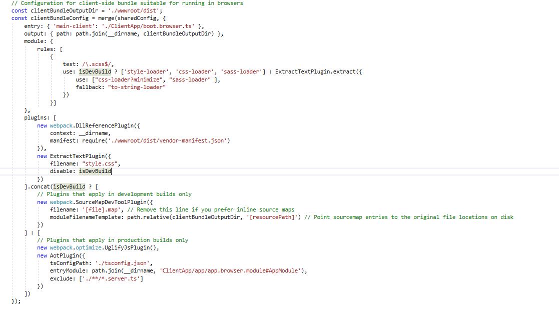 Use SASS with ASP NET Core, Angular and Webpack – Simeon Vanov's Blog