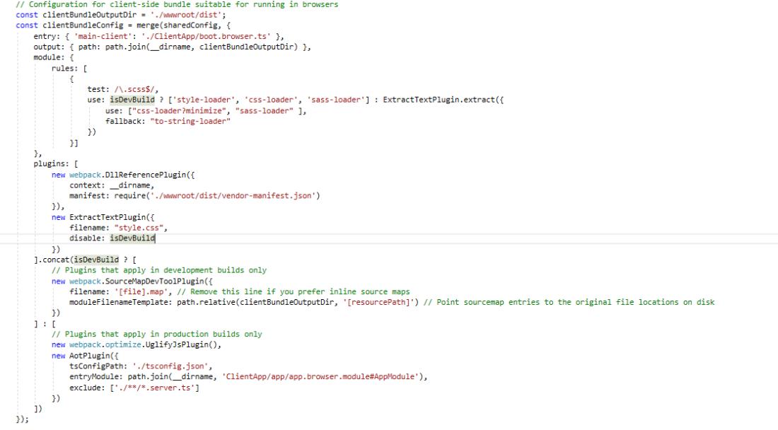 Use SASS with ASP NET Core, Angular and Webpack – Simeon